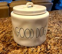 """RAE DUNN """"GOOD DOG"""" CANISTER TREAT JAR LARGE 8 in x 8 in  BRAND NEW BEAUTIFUL!!"""