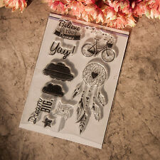 DIY Transparent Clear Rubber Stamp Seal Paper Craft Scrapbooking Decoration Pop