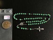 CHAPELET ANCIEN RELIGIEUX CROIX JESUS CHRIST VERT - REF51986