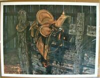 George Boutwell 1978 Print Memories Saddle LE 445/500 Signed.