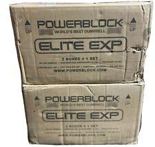 BRAND NEW PowerBlock Elite EXP Adjustable Dumbbells (Pair) 2020 model 5-50 Lbs