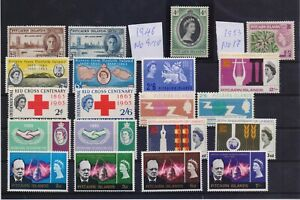 PITCAIRN ISLANDS 1946-66 9 DIFFERENT ISSUES MNH STAMPS (20)