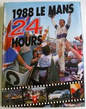 LE MANS 24 HOURS 1988 YEARBOOK / ANNUAL C Moity, J. M. Teissedre Car Book