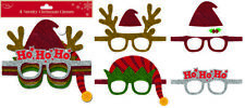 Christmas Glasses Party Selfie Photo Props Booth Night Xmas Games Accessories