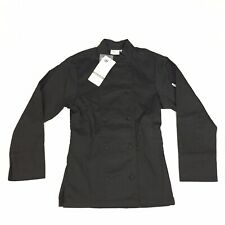 Chef Works Chef Coat Long Sleeve - Women's Size Xs - Black