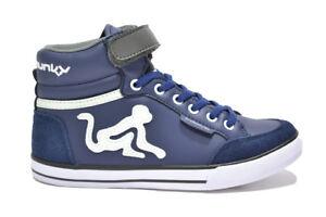 DRUNKNMUNKY Sneakers scarpe bambino navy mod. BOSTON CLASSIC 308