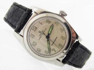 1940s Genuine Scarce Rolex Oyster Perpetual Bubbleback Men's Wrist Watch