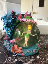 DISNEY TINKER BELL FAIRYLAND MUSICAL LIGHT UP SNOWGLOBE WITH BOX YOU CAN FLY