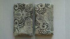 Pottery Barn Janelle Scroll Print Euro Sham Gray S/2 New