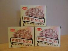 White Musk Cones  3 Boxes x 10  Total 30 Cones  HEM   Free Post AU