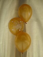 Happy 50th Anniversary Golden Wedding. 30 Helium Balloons Gold Party Decorations
