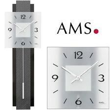 AMS 7313 Reloj de pared con Péndulo Cuarzo Reloj para salón Reloj Péndulo