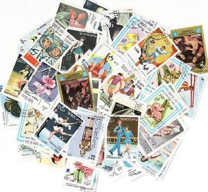 Laos Stamp Packet, 100 different stamps from Laos