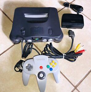 *AUTHENTIC* Nintendo 64 N64 Gray Black Console System *REGION FREE* Original OEM