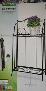 Metallregal für Blumen und Garten klappbar schwarz OVP