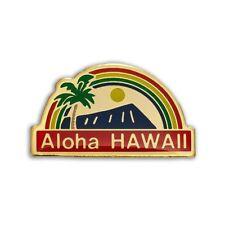 Aloha Rainbow Red, Blue Kc Hawaii Lapel Hat Pin