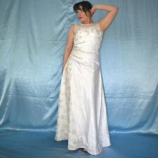 Lurex- Paillettes Broderie au Niveau de la Robe Mariée * XS (34) Satin