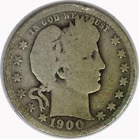 1900-O Silver Barber Quarter Raw Circulated Coin