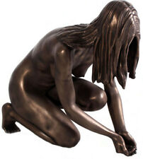 """Lady of the Lake Bronze Finish 30.9""""H Woman Sculpture Garden Outdoor Life Size"""
