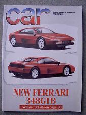 Car (June 1987) Panther Kallista, Montego, Sierra, Lamborghini, Ferrari 348 GTB