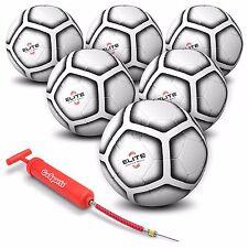 GoSports 6 Pack Elite Match Soccer Ball - Size 5 - with Premium Pump