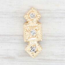 Vintage Richard Klein Spacer Slide Charm Diamond 14k Yellow Gold