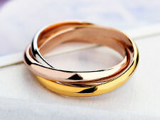 Dreiering Damen Triple Ring Edelstahl 316L rosegold weißgold gold Tricolor