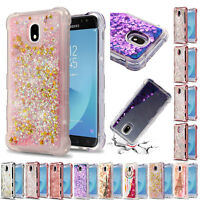 for Samsung Galaxy J7V (2nd Gen) J7 Refine Liquid Glitter Case Cover+Tool