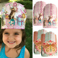 24pk Birthday Party Crowns Paper Hats Kids Party Favors Bulk Supplies Boys Girls