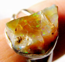 schöner (Roh) Welo Opal-Ring, 925er Silber, Gr. 55