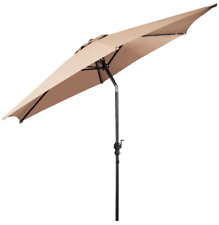 COSTWAY 9 Ft Outdoor Beach Patio Umbrella Garden Parasol with Crank Furniture OP