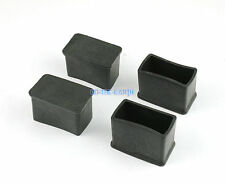 28 Pcs 15 x 30mm Rectangle Rubber Furniture Chair Table Feet Leg Cover Protector