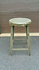 """Vtg Hallowell Metal Industrial Factory Machinist Drafting Angle Iron Stool 24"""""""