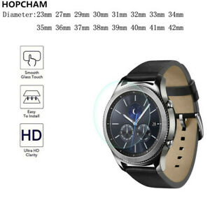 23-46mm Size Round Smart Watch Tempered Glass Screen Protector Film