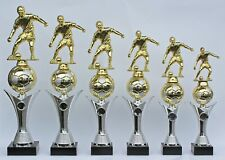 6er Serie Pokale Pokal Fußball mit Figur und Ball -  inkl.Gravuren