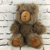Vintage Chosun International Teddy Bear Plush Brown Shaggy Fluffy Sitting Soft
