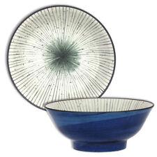 "Japanese Ramen Noodle Soup Rice Bowl 8.5"" Ceramic Uchi-Tokusa Line Made in Japan"