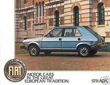 1980 Fiat Strada USA Edition Sales Sheet Brochure