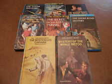 LOT OF 7 HARD COVER HARDY BOYS SERIES  FRANKLIN W DIXON DETECTIVE HANDBOOK