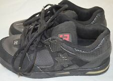 DC Athletic Tennis Shoes Women's Black Laced Skate Sneakers Size 8