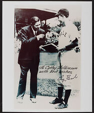 George H.W. Bush Signed Photograph - Yale Photo with Babe Ruth!!