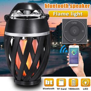 96 LED 75dB 1500mAh Flame Lamp USB Speaker Wireless bluetooth 4.2 Stereo Speaker