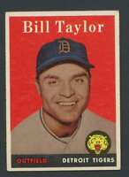 1958 Topps #389 Bill Taylor EXMT/EXMT+ Tigers 24369