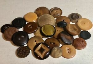 Antique Vegetable Ivory Buttons, Carved, Pressed, Stencil, 2 & 4 Hole, Im Fabric