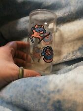 Vintage Muppet Babies Glass Cup 1989 Sesame Street Jim Henson Gonzo & Animal