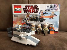 Lego 8083 Star Wars Zev Senesca Hoth Trooper Battle Minifig Manual 100% Set