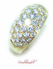 Cluster Brillantring 750 Gold / 18 kt ca. 1,17 ct Brillanten Diamonds TW/IF-VVS