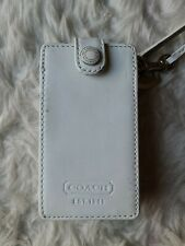 New listing Coach Apple Ipod Mini White Leather Holder/Case Wristlet