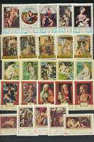 Famous Art Mint NH Paintings Sets FUJEIRA 5 Different $30.00 Retail Value