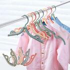 4pcs Coat Hanger Rack Portable Foldable Hanger Folding Plastic For Travel New